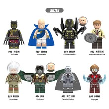 X0218 AvengersING Marvel role compatible LegoINGls team leader Vulture Small pepper Phantom Collection child Building module toy