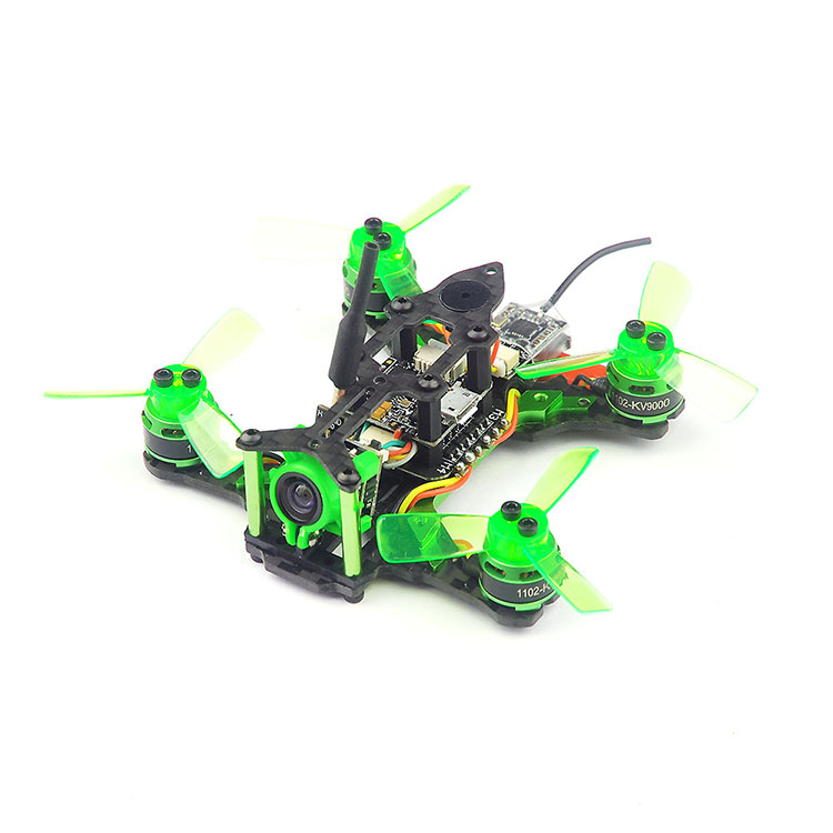 Mantis 85 Micro FPV RC Racing Drone Quadcopter BNF Frame Kit with Battery Frsky D8 Flysky