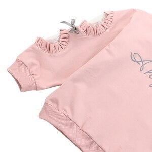 Image 4 - Girls Sets Lace Sleeve Sweatshirt + Mesh Skirt 2PCS Girls Clothes Sets Autumn Winter Children Girls Clothing Sets Christmas Gift