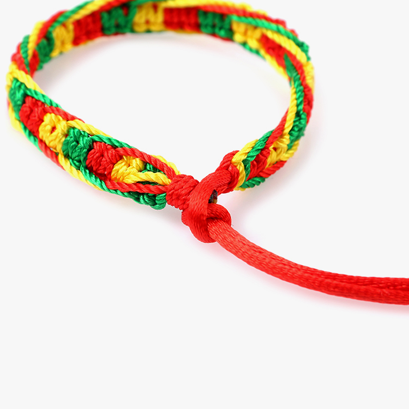 Cheap brazilian bracelet multicolor braided boho chain bohemian tassel handmade sport chain friendship bracelets neon unisex 3