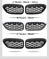 For Bmw F10 F11 F18 Car Front Grill Newest Diamond Style 2010 2016 One Pair Abs 5 Series F10 Mesh Grill