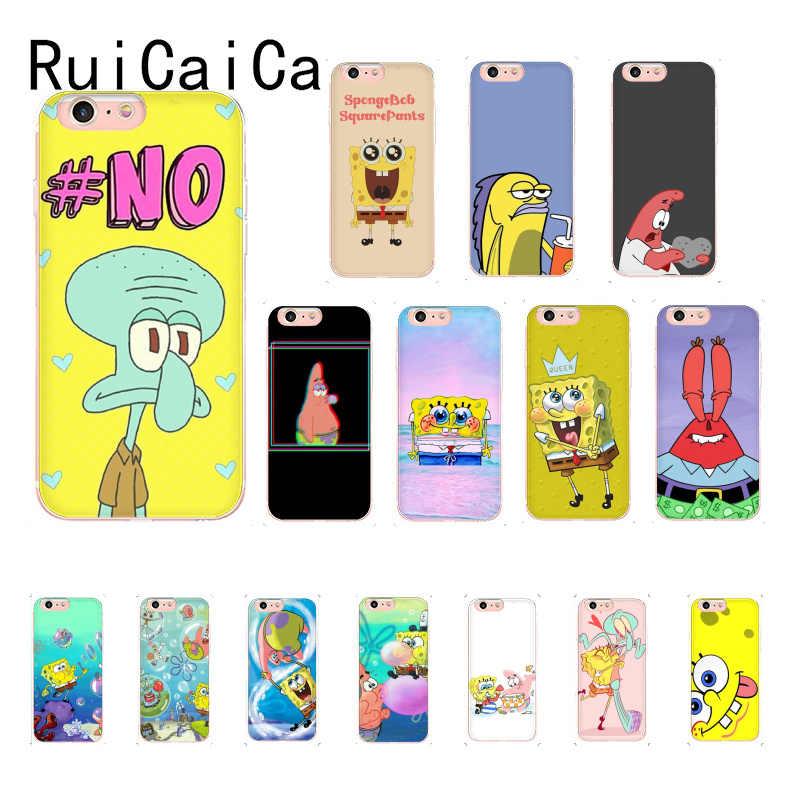 Ruicaicaスポンジボブ美的おかしい漫画電話カバーiphone 8 7 6 6sプラスx xsmax 5 5s xr 10 11 11pro 11promax