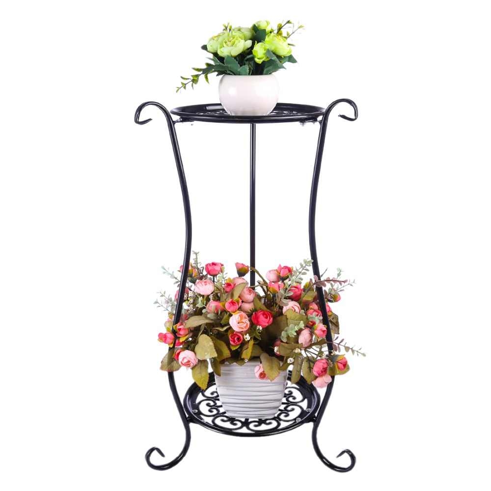 VICTMAX Iron Art Multi-Layer Balcony Plant Pot Stand Simple Indoor Outdoor Gardenpot Base Holder Shlef Garden Decor 2 Colors
