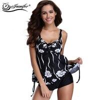 Plus Size Pregnant Woman Swimwear High Quality Print Floral Women Swimsuit Two Pieces Beachwear