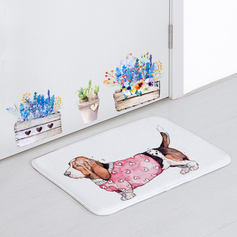 Cute Animal Christmas Decorations Mats Dachshund Dog Deer Cattle Bird Cock Narwhal Living Room Door Mat Home Apartment Yoga Mat image