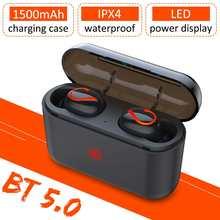 Tws беспроводные наушники bluetooth 50 с микрофоном водонепроницаемая