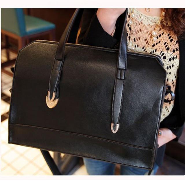 Women Bag 2015 Ladies Handbags Vintage PU Leather Satchel Top Quality ACET0080
