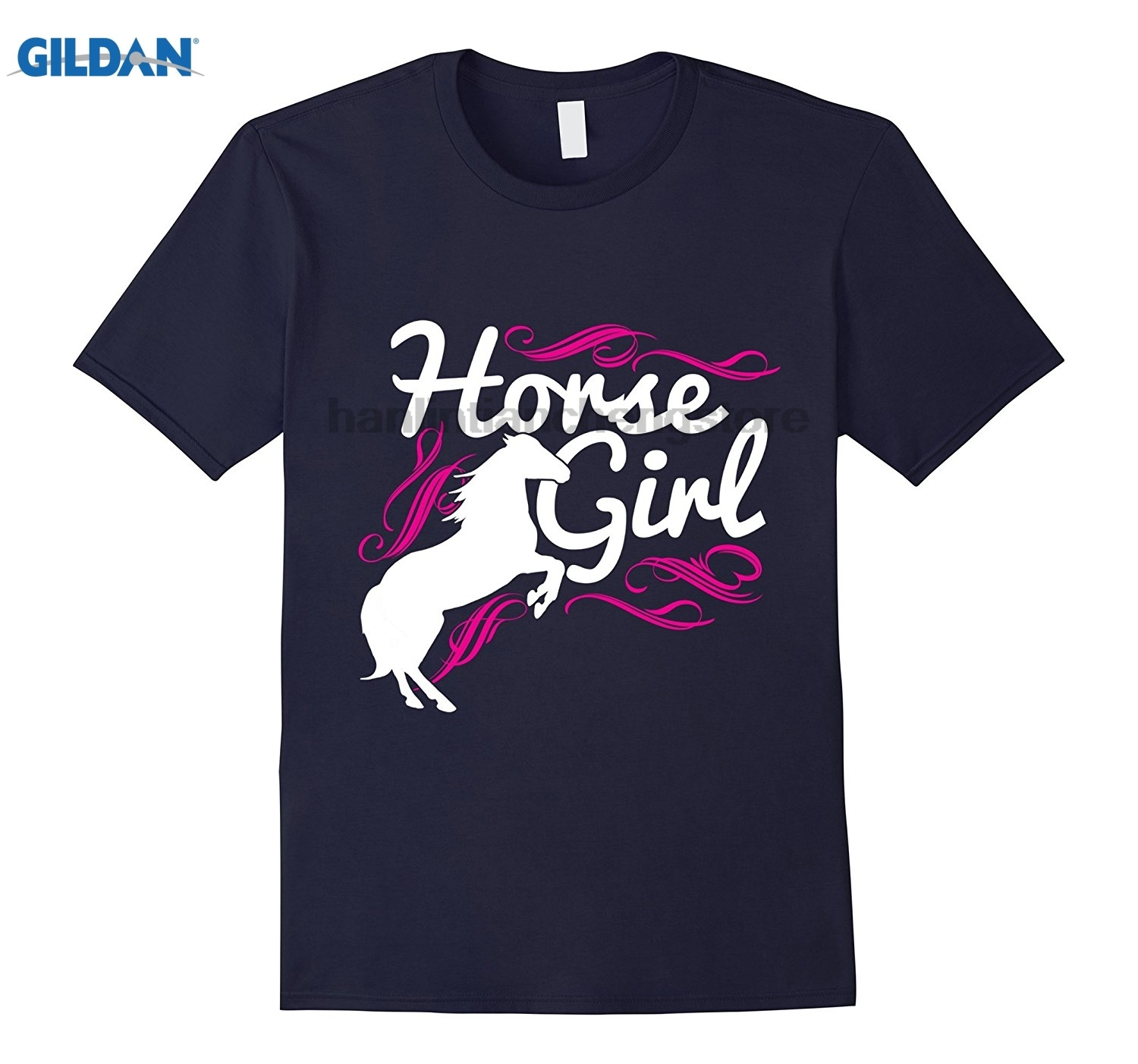 GILDAN Horse Girl T-shirts Horse T shirt Riding Lovers Shirts