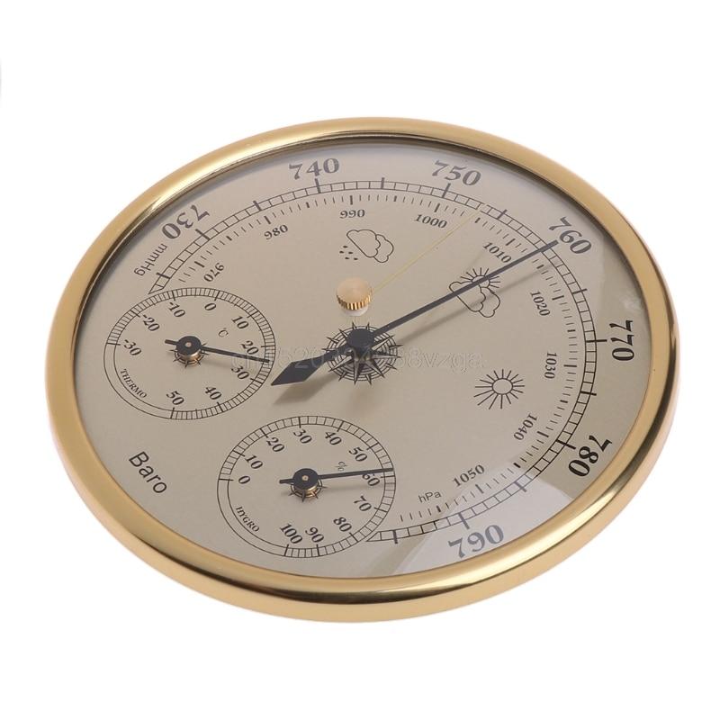 Montado en la pared del hogar barómetro termómetro higrómetro estación meteorológica colgando J12 dropshipping. exclusivo.