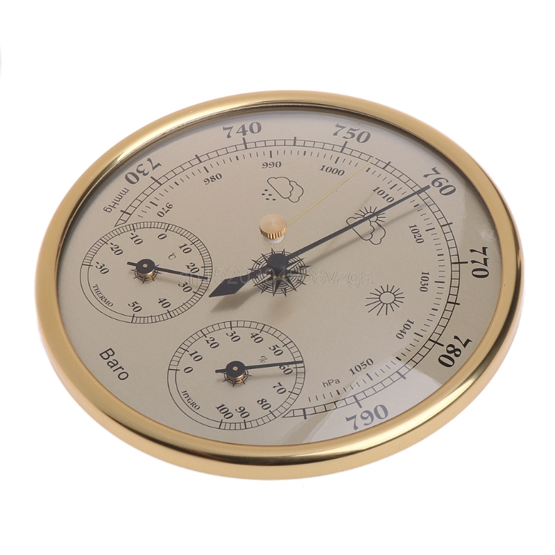 Wall Mounted Household Barometer Thermometer Hygrometer Weather Station Hanging J12 dropshipping