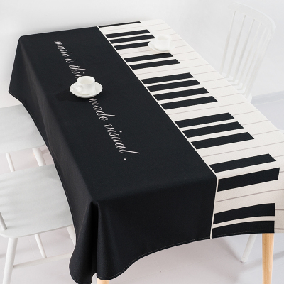 Modern European Style Coffee Table Cloth Linen Tablecloths Cover Towel Thick Rectangular Antependium Decoration Piano Gift
