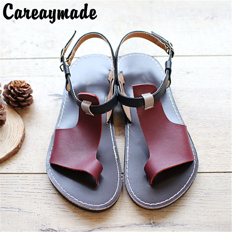 Careaymade-2018 new Genuine Leather pure handmade shoes, the retro art mori girl shoes,Women's casual Sandals,Coffee&Wine red huifengazurrcs new pure handmade casual