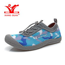 XIANGGUAN Man Running Shoes Men Upstream Trainers Camouflage Loafers Summer Water Sports Boating Shoe Outdoor Walking Sneakers