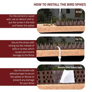 Image 3 - 30Pcs Spikes Bird Cat Bird Dogs Mosquito Repellent Plastic Strips Spikes Keep Bird Off Harmless To Animal 49 X 4.5 X 1.7cm