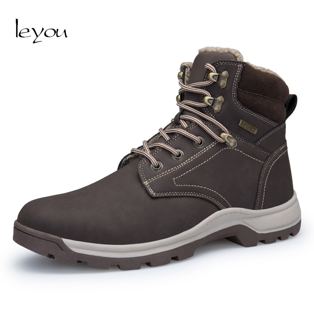 Men Plus Size Military Boots Waterproof Snow Boots Men Army Shoes Ankle Boots Winter Booties