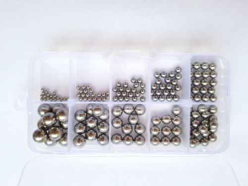 160pcs G10 Level Stainless Steel Bearings Ball Wire Rod Screw Assortment Set Free Shipping