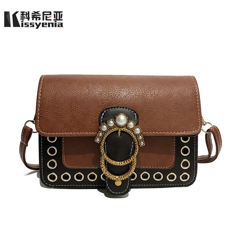 Luggage & Bags Kissyenia Women Summer Leather Handbags 2018 Pu Small Flaps Brand Designer Pearl Shoulder Bags Women Purse Luxury Clutch Ks1079 High Quality Goods Shoulder Bags