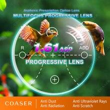 1.61 ilerici multifokal Lens serbest Form geçiş fotokromik gözlük miyopi presbiyopi reçete optik vizyon gözlük