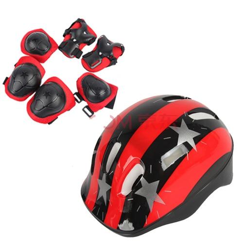Велосипедный шлем детская Катание на роликах скейтборд локоть наколенники наручные спортивные Защитная гвардии наколенники