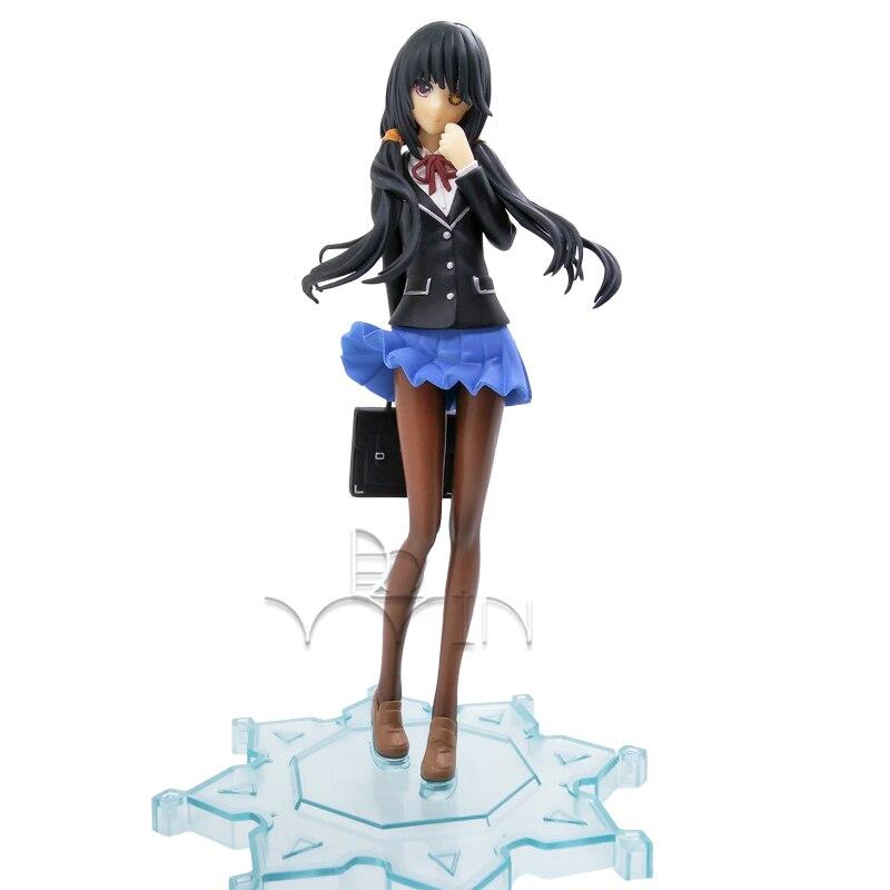Date A Live Nightmare Kurumi Tokisaki Uniform Ver PVC Figure Anime Model Toy