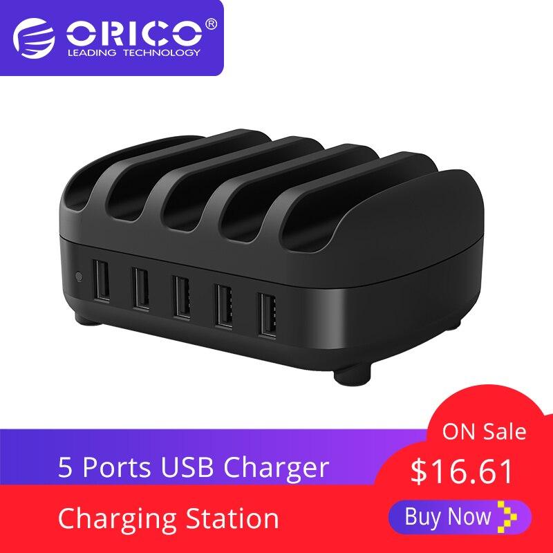 ORICO 5 Ports USB station de charge Dock avec Support 40 W 5V2. 4A * 5 USB De Charge pour Smart tablette téléphone PC s'applique pour La Maison Publique