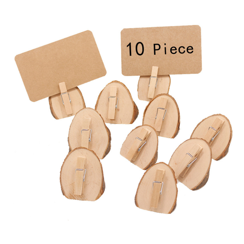 10pcs lot Original Ecological Home Decoration Digital Clip Photo Paper Multi Clip School Wedding Decoration Stationery With Rope in Party DIY Decorations from Home Garden