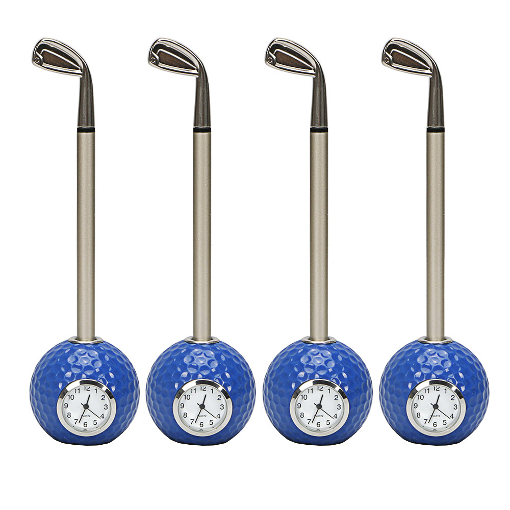 Image 4 - golf gift Golf club shape Ballpoint Pen with golf ball clock golf promotional desktop gift-in Golf Training Aids from Sports & Entertainment