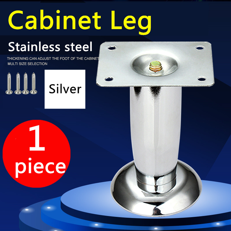 Stainless steel Furniture Cabinet Legs Table Sofa Bed Home Metal Feet With Screws Furniture feet 4pcs 150mm height furniture legs adjustable 10 15mm cabinet feet silver tone stainless steel leveling feet for table bed sofa
