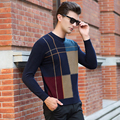Winter Men Jumper 100% Pure  Merino Wool Knitted Sweater O-neck Long Sleeve Warm Pullovers Male 2016 New Sweaters Plus size