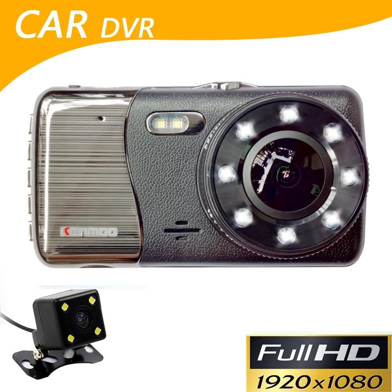 Caméra de voiture HD AIT8328P 1080 P 4 pouces Dvr double lentille image inverse g-sensor Vision nocturne caméscope de voiture Dvr