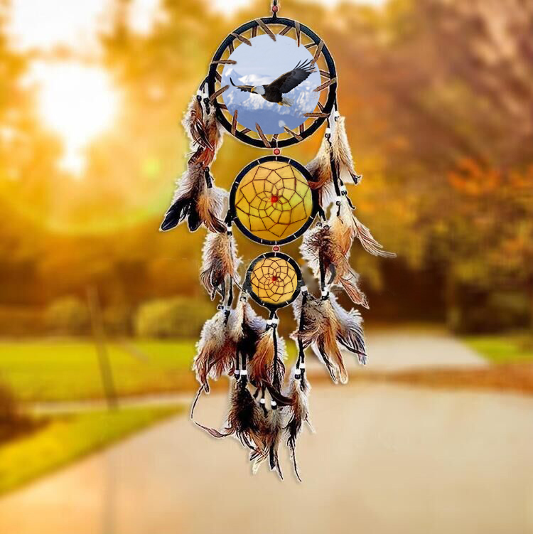 2017 New Handmade Dream Catcher Feather Wall Hanging Hanging ...
