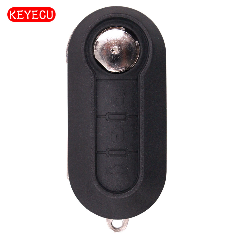 Replacement Remote Car Key Fob 3 Button 433MHz ID46 for Fiat 500L Bravo Ducato