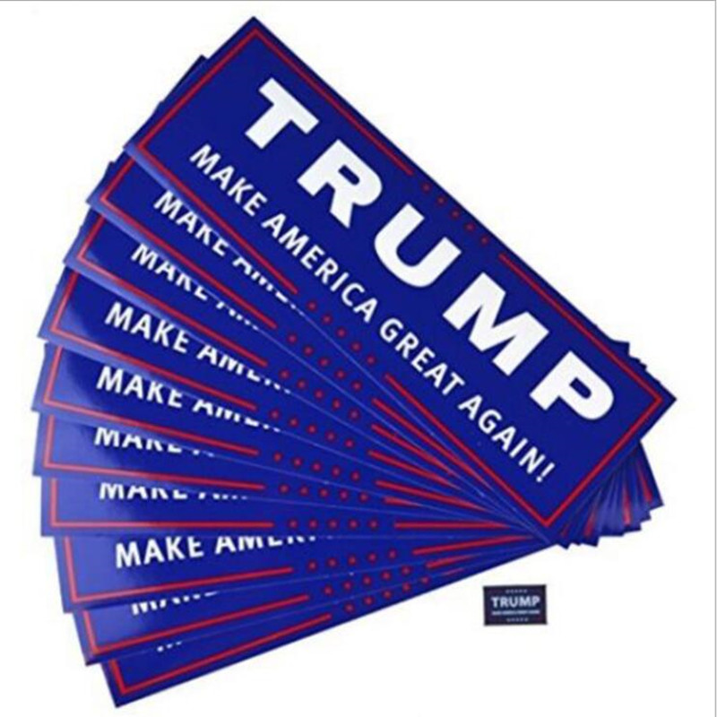 10pcs 2020 Donald Trump For President General Election Keep America Great Again Bump Body Car Stickers Decor Car Fashion Styling