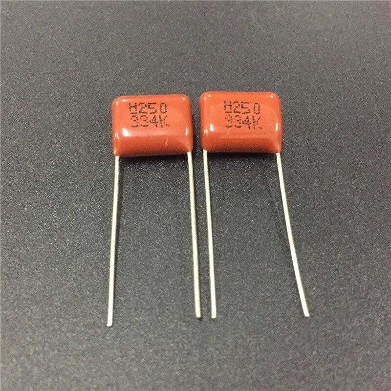 10pcs CBB Capacitor 334 250V 334K 0.33uF 330nF P10 CL21 Metallized Polypropylene Film Capacitor