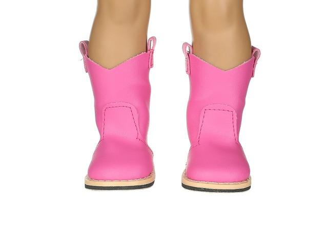 Nieuwe stijl rose rode laars schoenen & mode schoenen fit 18 inch