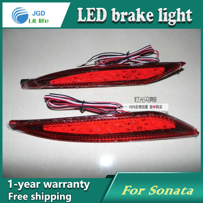 Car Styling Rear Bumper LED Brake Lights Warning Lights case For Hyundai Sonata 2010-2014 Accessories Good Quality car styling rear bumper led brake lights warning lights case for mazda atenza accessories good quality