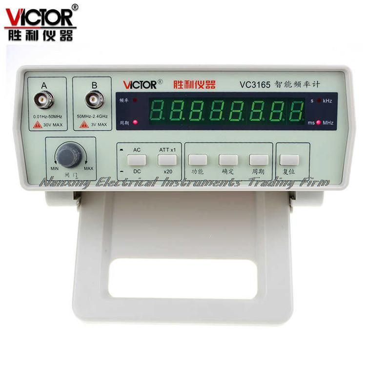 Fast arrival VICTOR VC3165 0.01Hz - 2.4GHz Precision Frequency Meter Frequency Counter