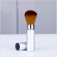 2017 New Fashion Pro Retractable Makeup Blush Brush Powder Cosmetic Adjustable Face Powder Brush Top Quality