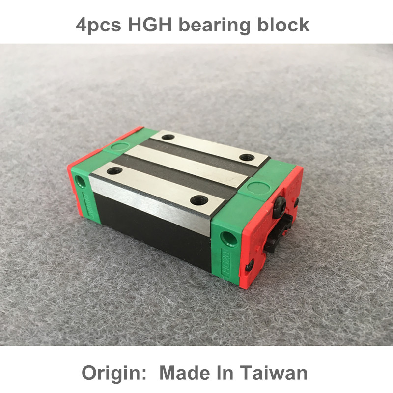 Free shipping 4pcs HGH15/20/25/30CA 100% New Original HIWIN linear guide blocks HIWIN linear Rails