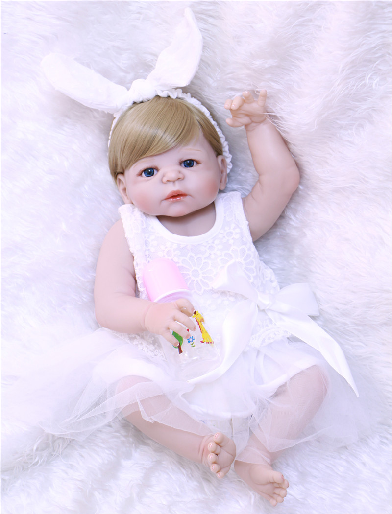 DollMai 22inch 57cm Full body silicone reborn high quality doll present toy handmade bonecas brinquedos gifts for saleDollMai 22inch 57cm Full body silicone reborn high quality doll present toy handmade bonecas brinquedos gifts for sale