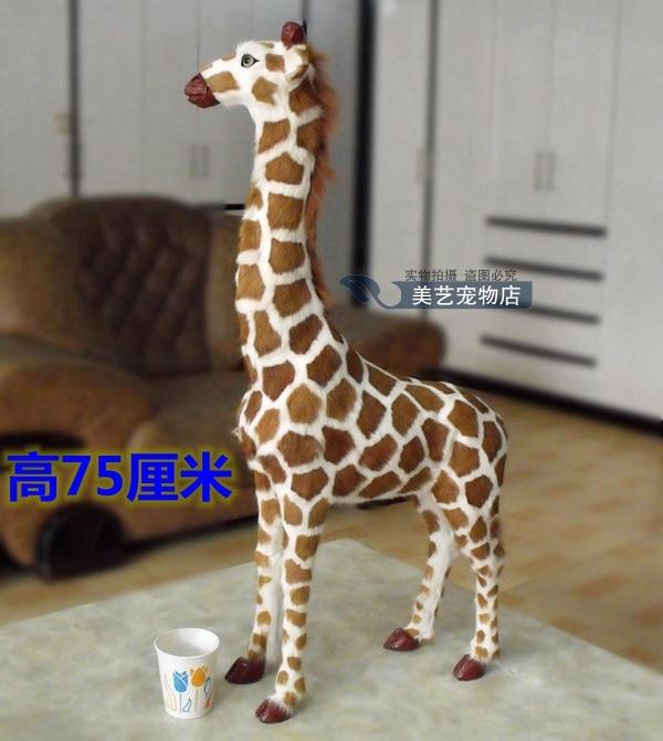 simulation giraffe large 48x14x75cm model,polyethylene& fur handicraft toy prop,home decoration Xmas gift b3759 new big simulation wings pigeons toy polyethylene