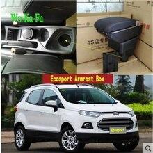 Для Ford Ecosport подлокотник коробка центральный магазин содержание коробка для хранения ford подлокотник коробка с подстаканником пепельница USB интерфейс 2002-2016
