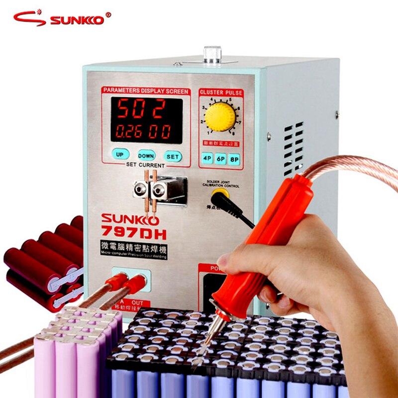 SUNKKO 797DH аккумуляторная точечная сварочная машина 3.8KW Высокая мощность точность импульсная точечная сварочная машина точечная сварка Макси...