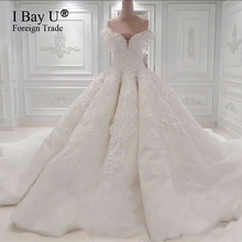 Robe De Mariage Princess Bling Luxury Crystals White Wedding Dress Gown 2017 Bridal Wedding Gown Vestido De Noiva Custom Made