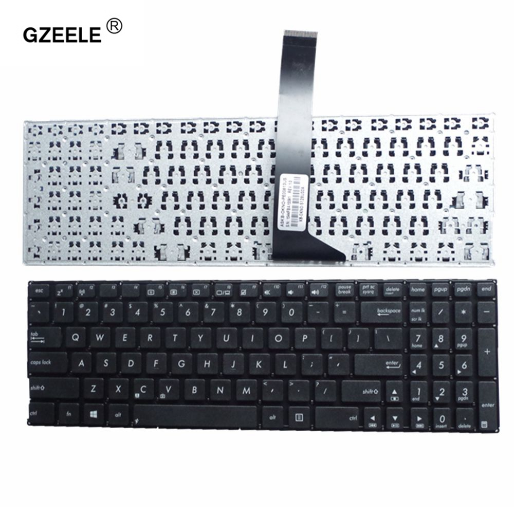 GZEELE New english keyboard for ASUS X550 X550C X550CA X550CC X550CL X550D X550DP laptop keyboard US layout Black without frame laptop keyboard for clevo w670sfq w670sfq1 black without frame slovenian sv