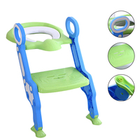 Children Potty Training Chair Baby Toilet Baby Folding Adjustable Ladder Portable Potty Step Stool Kids Safety Trainer Seat Pot