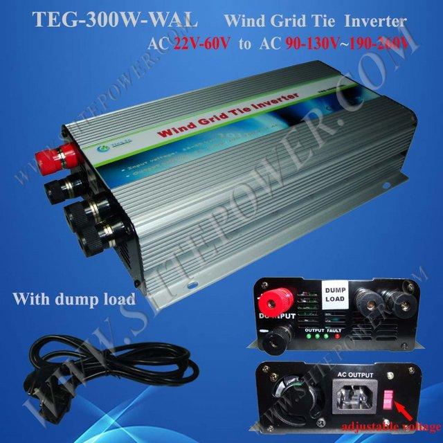 300w grid tie inverter wind Dump Load controller 3 phase DC input 22-60v to AC 110v/230v