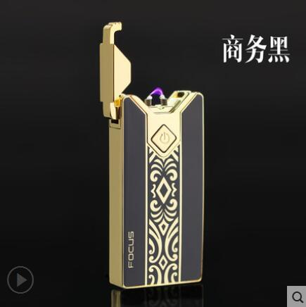 Focus USB DIY rechargeable lighter ultra thin arc windproof creative personality font b electronic b font