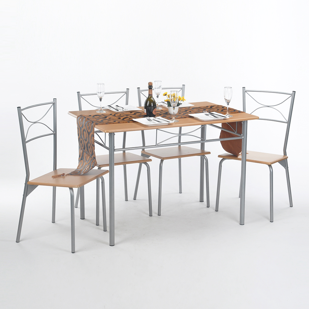 Simple dining table with chairs - Aingoo 5pcs Dining Room Set Furniture Unique Design Brand And High Quality Simple Style Dining Table Set Dining Room Furniture