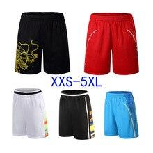 Дешевые мужские и женские быстросохнущий полиэстер теннисные шорты, настольные теннисные шорты, одежда для бадминтона, одежда для бега, большие размеры